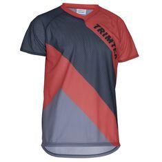 Basic Mesh O-Shirt SS Steel Blue / Magma S