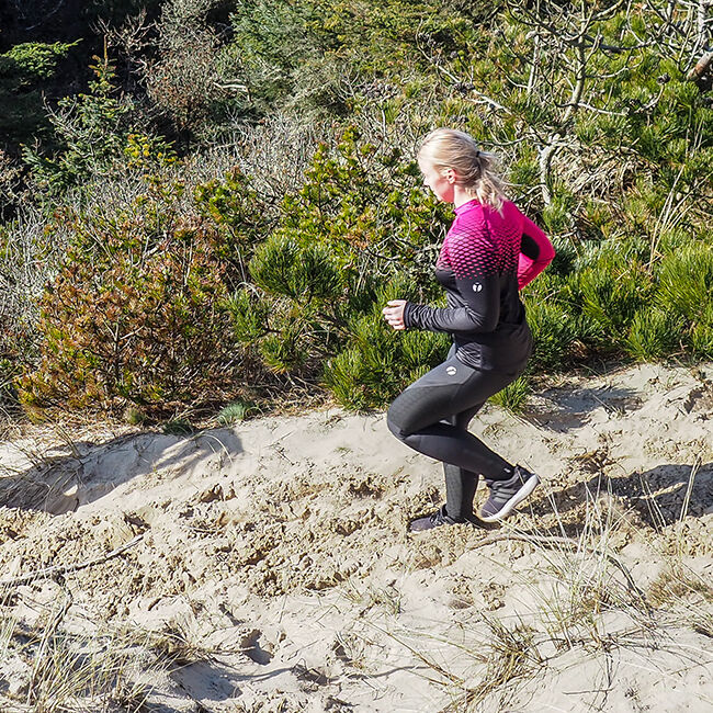 Trail långärmad orienteringströja dam