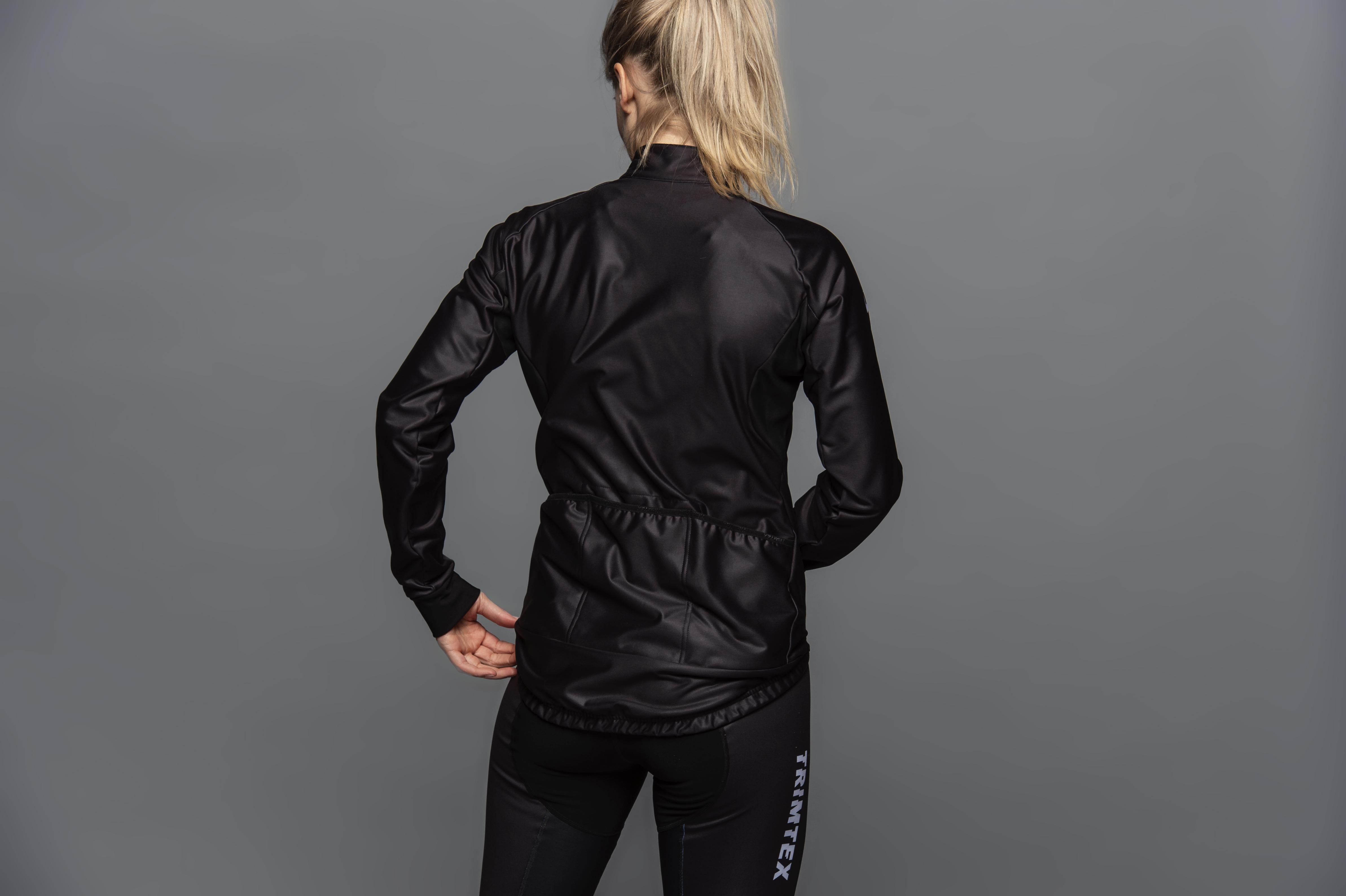 Vind och vattentät cykeljacka med tight passform till kvinnor.